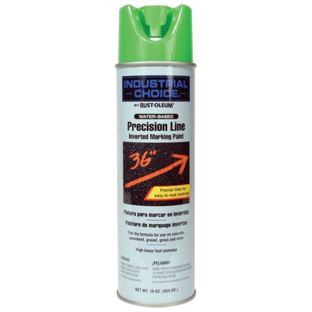 Green Inverted Marking Paint (Rust-Oleum M1600/M1800 Precision-Line Inverted Marking Paint,17oz,Fluorescent)