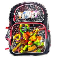 "Teenage Mutant Ninja Turtles 16"" Canvas Black & Red School Backpack"