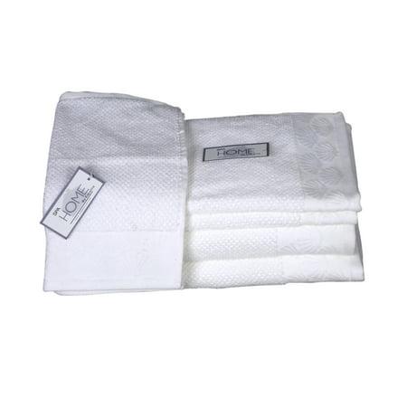 Coastal Shell 6-Piece Textured Towel Set