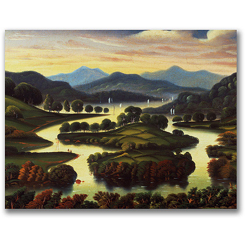 "Trademark Fine Art ""Landscape"" Canvas Wall Art by Thomas Chambers"