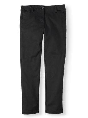 Wonder Nation Girls Plus School Uniform Stretch Twill Skinny Pants (Plus)