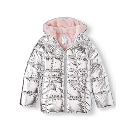 Metallic Quilted Bubble Jacket (Little Girls, Big Girls & Plus)