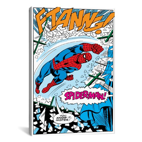 iCanvas Marvel Comics Spider-Man Panel B Graphic Art on Wrapped Canvas