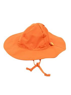 Leveret Kids Baby Boys Girls Sun Protection Swim Brim Hat Orange Size 9-18 Months