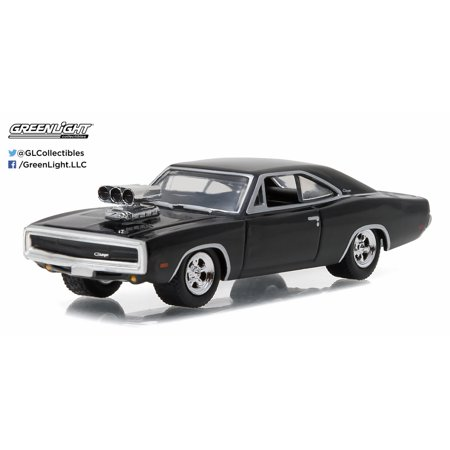 Greenlight 1:64 Muscle Car Series 17 1970 Dodge Charger with Blown Engine Black