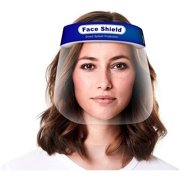 Face Shield 2 pcs, Reusable Transparent Anti-Fog Visor Full Face Safety Cover with Comfort Foam, Adjustable Band to Fit All Sizes, 2-Pack
