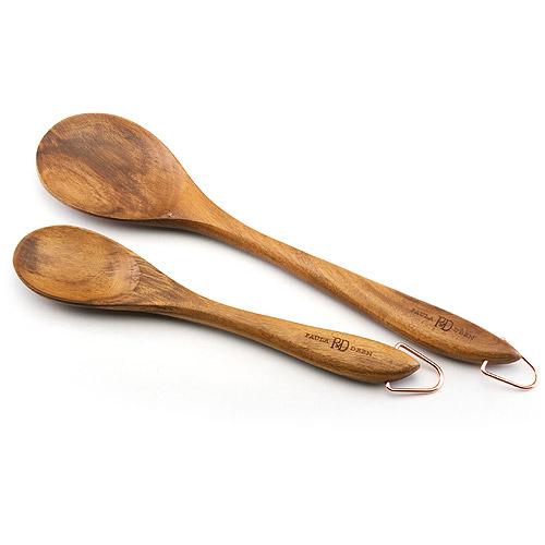 "Paula Deen 2 Piece Solid Spoon Set - 10"" & 13"""