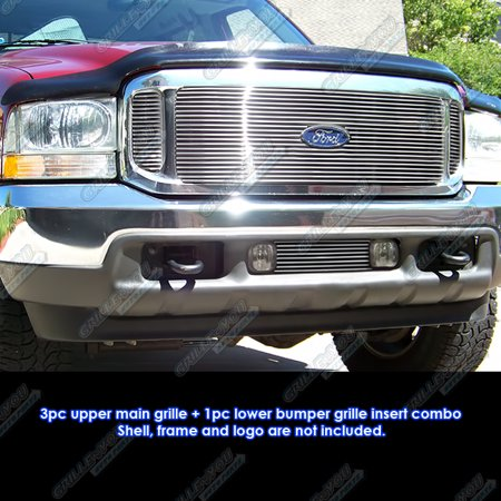 - 1999-2004 Ford F-250/F-350 Super Duty/Excursion Billet Grille Grill Combo Insert