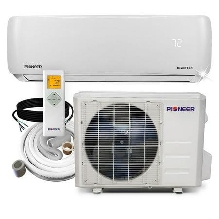 PIONEER Ductless Mini Split Inverter Heat Pump System. 12,000 BTU/h, 110-120V, 17.2 SEER ()