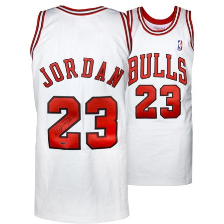 huge discount aecce 158f3 Michael Jordan Chicago Bulls Autographed 1997-98 Mitchell & Ness White  Jersey - Upper Deck - Fanatics Authentic Certified