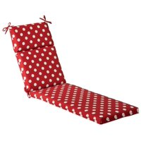 Outdoor Patio Furniture Chaise Lounge Cushion - Red & White Polka Dot
