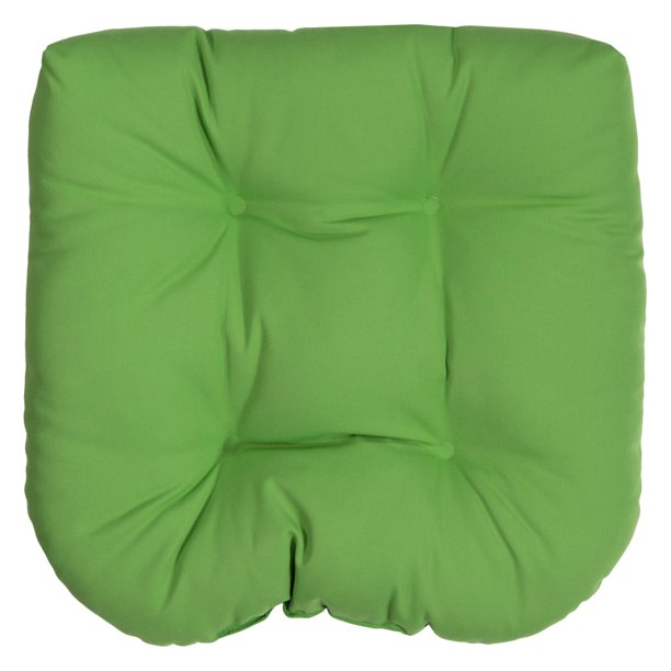 Tufted Outdoor Chair Cushion, Round Back Outdoor Chair Pads