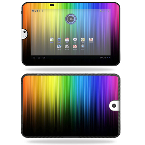 Mightyskins Protective Vinyl Skin Decal Cover for Toshiba Thrive 10.1 Android Tablet wrap sticker skins Rainbow Streaks