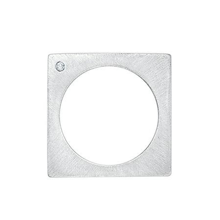 Diamond Accent Square Shape Fashion Ring in 14K Gold (I-Color, SI3-I1 Clarity)