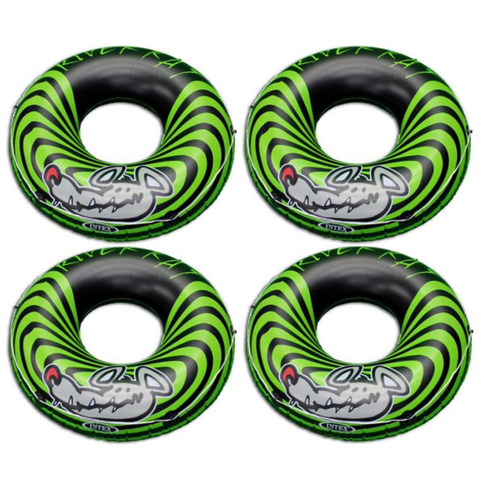 4-Pack Intex River Rat 48-Inch Inflatable Tubes For Lake