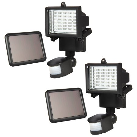 Lande, 2 PACK 60 LEDs Outdoor Garden Solar Motion Sensor Security Flood Light Spot Lamp