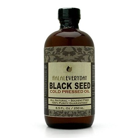 Pure and Cold Pressed Black Seed Oil - 8 oz Glass Bottle - NON-GMO and Vegan - Nigella Sativa -Hexane Free - Halal Certified - Unfiltered,Dark and Potent - Natural Source of Nigellone and