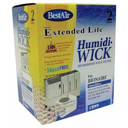 BestAir CBW9 Extended Life Wick Filter - Bemis, 2 (2 Pack Wick)