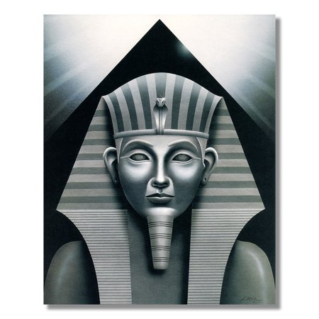 Egyptian Sphinx And Pyramid Wall Picture Art Print - Egyptian Cat Sphynx