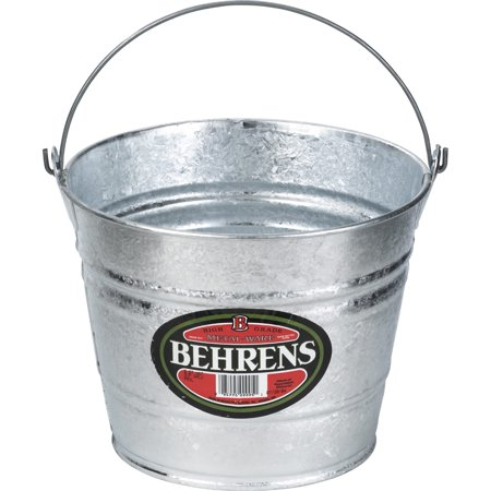 Behren's Products Hot Dipped 10 Quart Steel - Silver Tin Pail