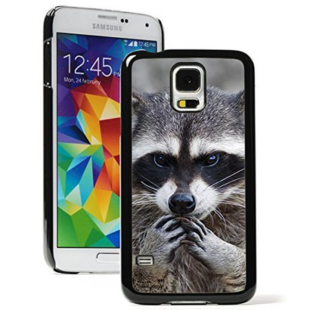 new style 94142 7943f Samsung Galaxy (S5 Active) Hard Back Case Cover Close Up Raccoon (Black)