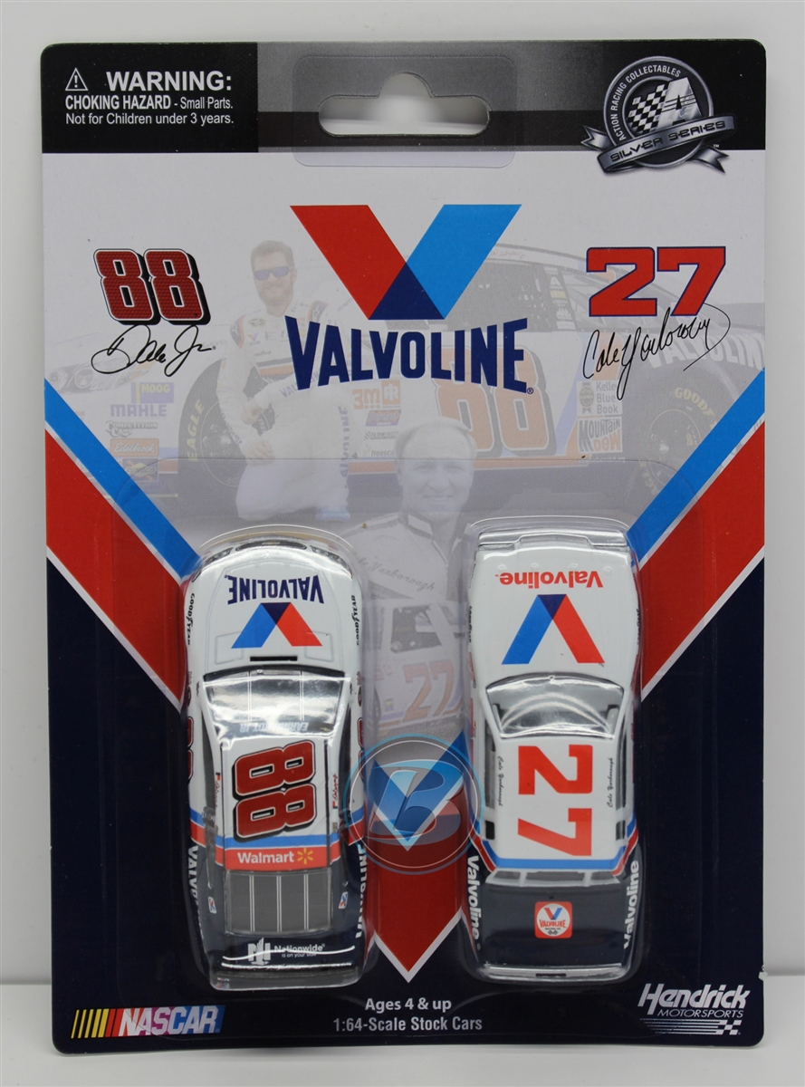 Cale Yarborough 1982 Valvoline & Dale Earnhardt Jr 2015 Valvoline 2 Pack 1:64 Nascar Diecast by Lionel Racing