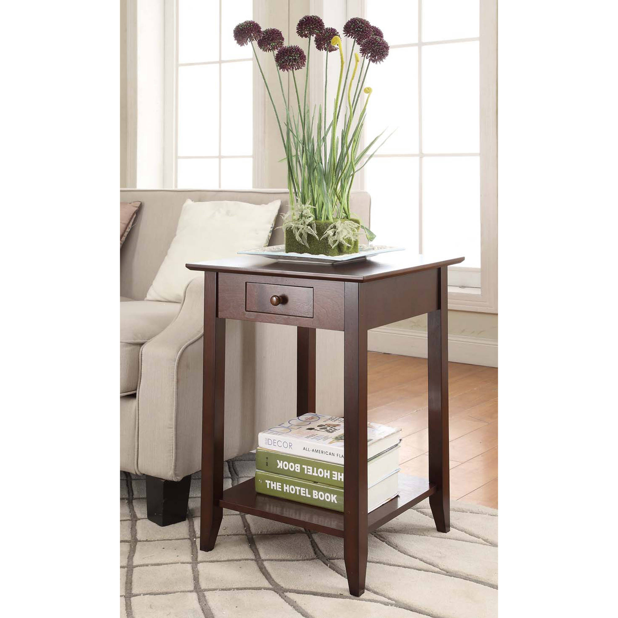 convenience concepts american heritage end table multiple finishes walmartcom