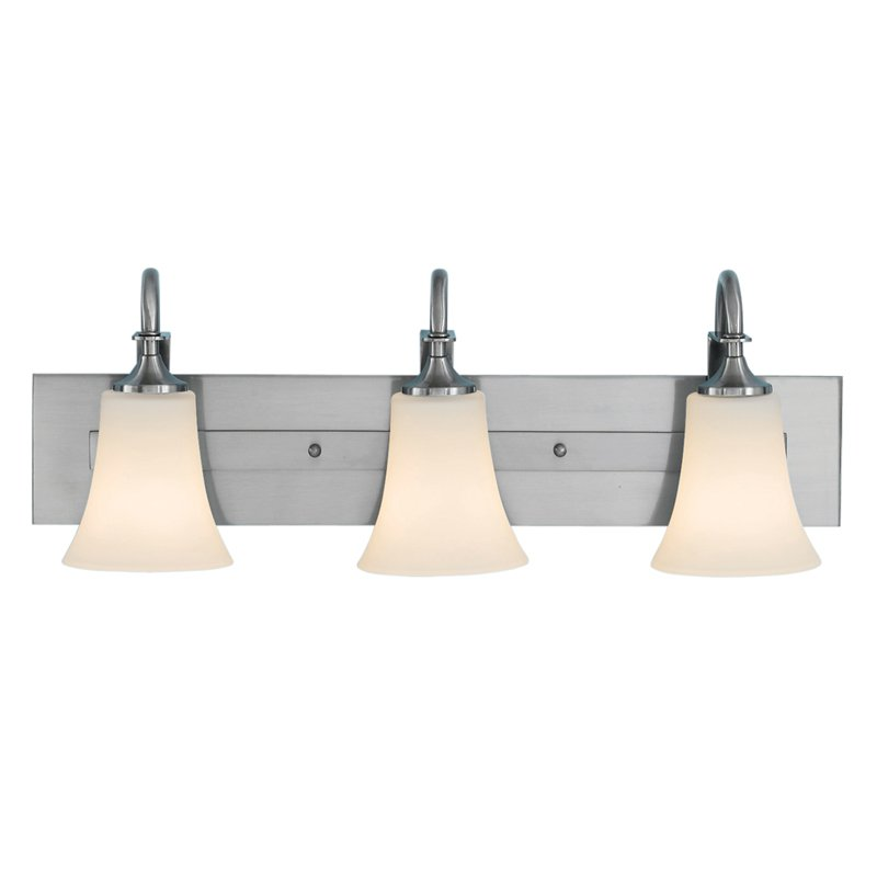 Feiss Barrington Bathroom Wall Light 24W in. Brushed Steel by Murray Feiss