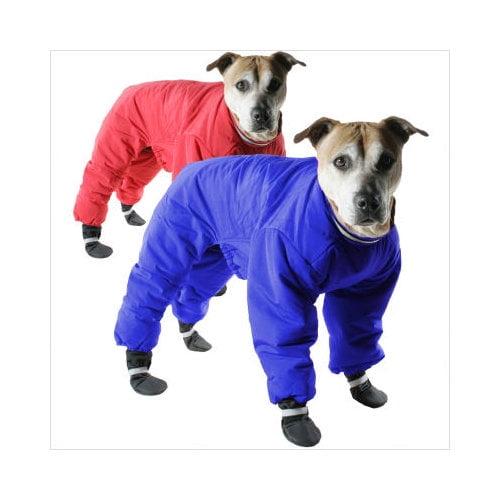 Muttluks Reversible Dog Snowsuit in Red/Navy