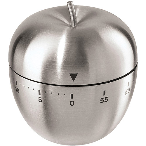 Oggi Corporation Stainless Steel Apple 60-Minute Kitchen Timer