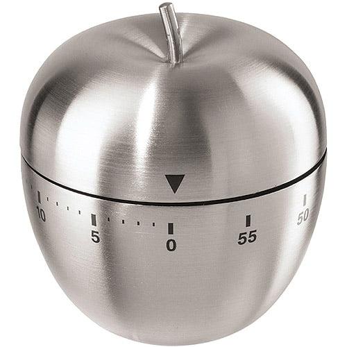 Oggi Corporation Stainless Steel Apple 60-Minute Kitchen Timer