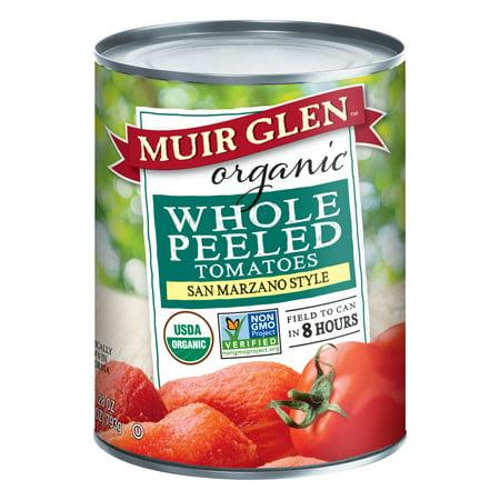 Organic Diced Tomatoes - (6 Pack) Muir Glen Organic Whole Peeled Plum Tomatoes, 28 oz
