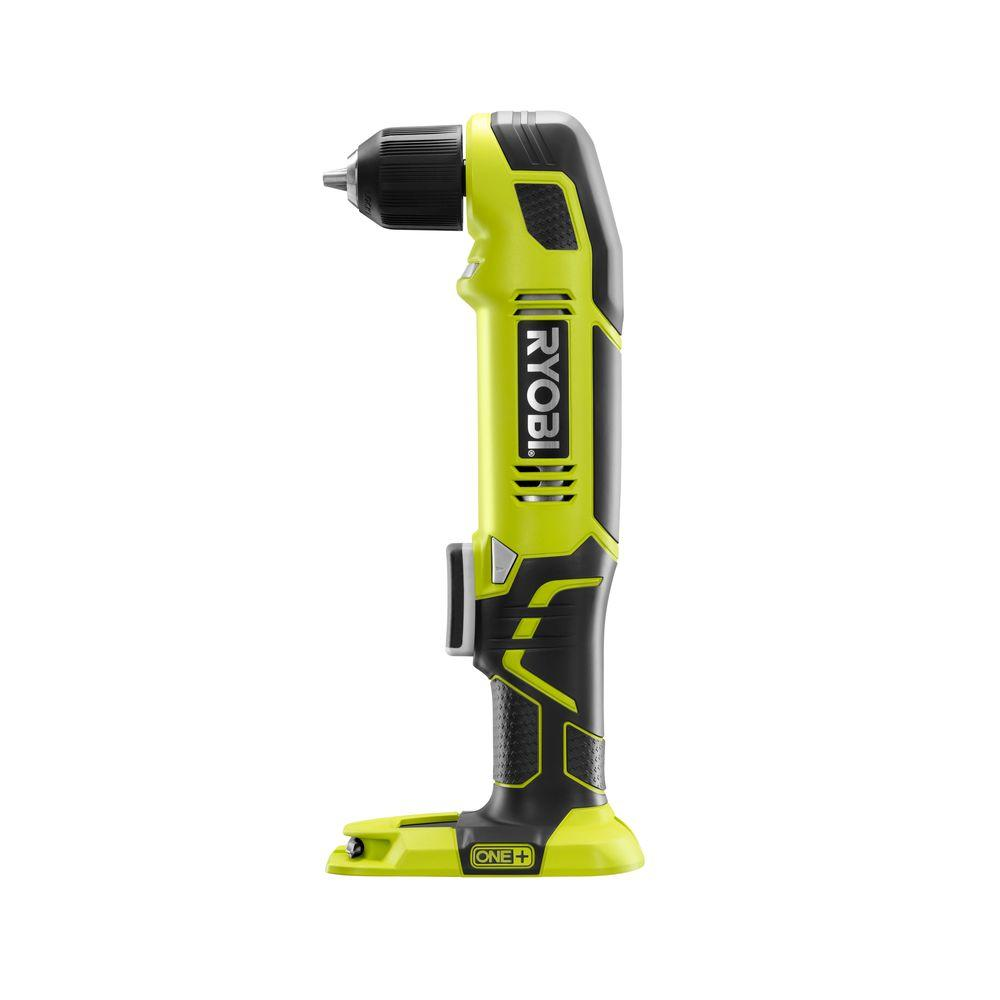 ryobi one+ 18-volt 3/8 in. cordless right angle drill variable speed bare tool p241