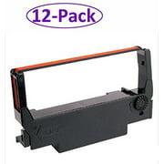 Star Micronics 12-Pack RC700BR Ribbon Ink Ribbon Black/Red Thermal Transfer for SP700 Series Printer
