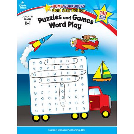Puzzles and Games: Word Play, Grades K - 1 : Gold Star