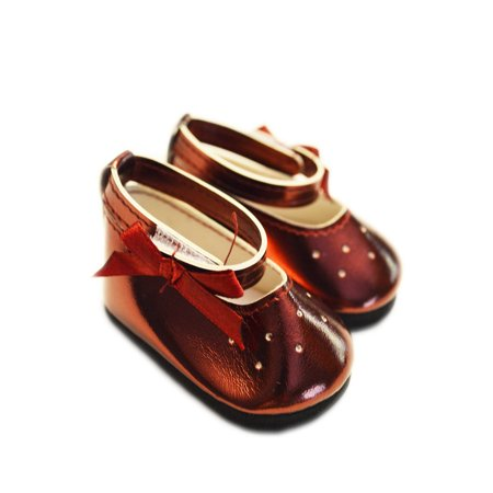 My Brittany's Red Burgundy Mary Janes for American Girl Dolls and My Life as Dolls- 18 Inch Doll Shoes- Compliments American Girl Doll Clothes
