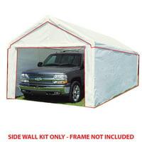 King Canopy 10 ft x 20 ft Carport Canopy Sidewall Kit w/ Flaps