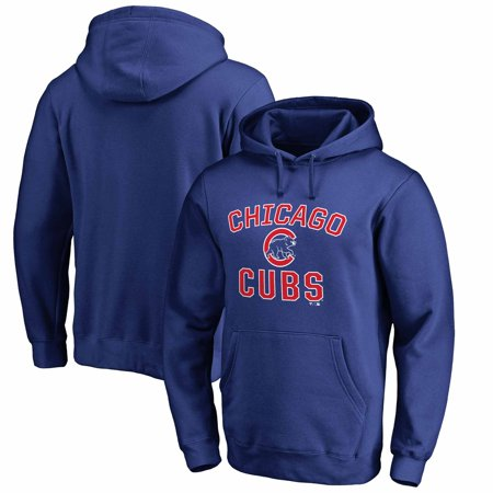 Chicago Cubs Fanatics Branded Big & Tall Victory Arch Pullover Hoodie - Royal ()