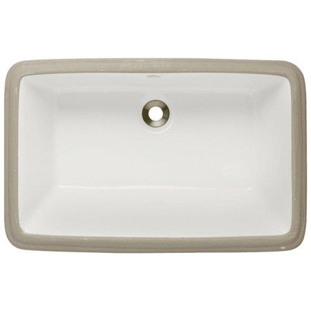 MR Direct U1812-Bisque Porcelain Rectangular Undermount Bathroom Sink