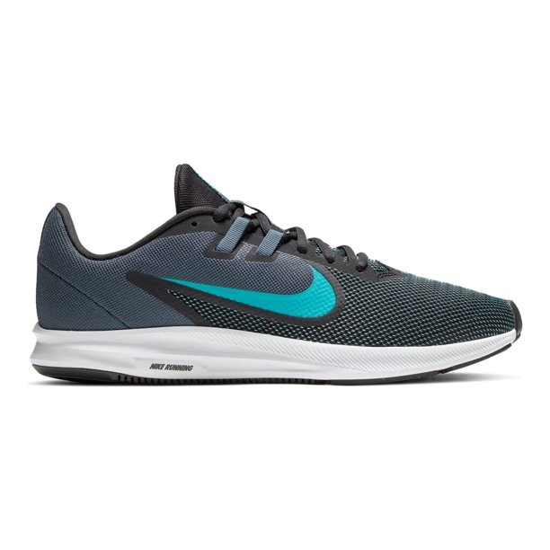 Nike Downshifter 9 Men's Running Shoes Black Blue Lagoon