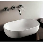"Whitehaus Whkn1080 Isabella 23-1/4"" Oval Porcelain Vessel Bathroom Sink - White"