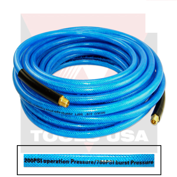 "1/4"" X 50 Foot Iron Flex Braided Polypropylene Air Compressor Hose Tools"
