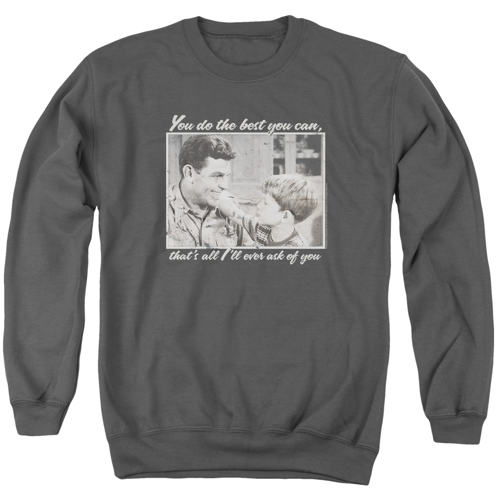 Andy Griffith Wise Words Mens Crewneck Sweatshirt