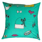"""Rachel Kate By Rizzy Home Decorative Poly Filled Throw Pillow Accessories 18""""X18"""" Teal"""