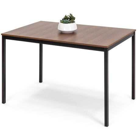Best Choice Products 48in Multipurpose Modern Rectangular Dining Table Office Desk w/ Wood Finish Tabletop, Steel