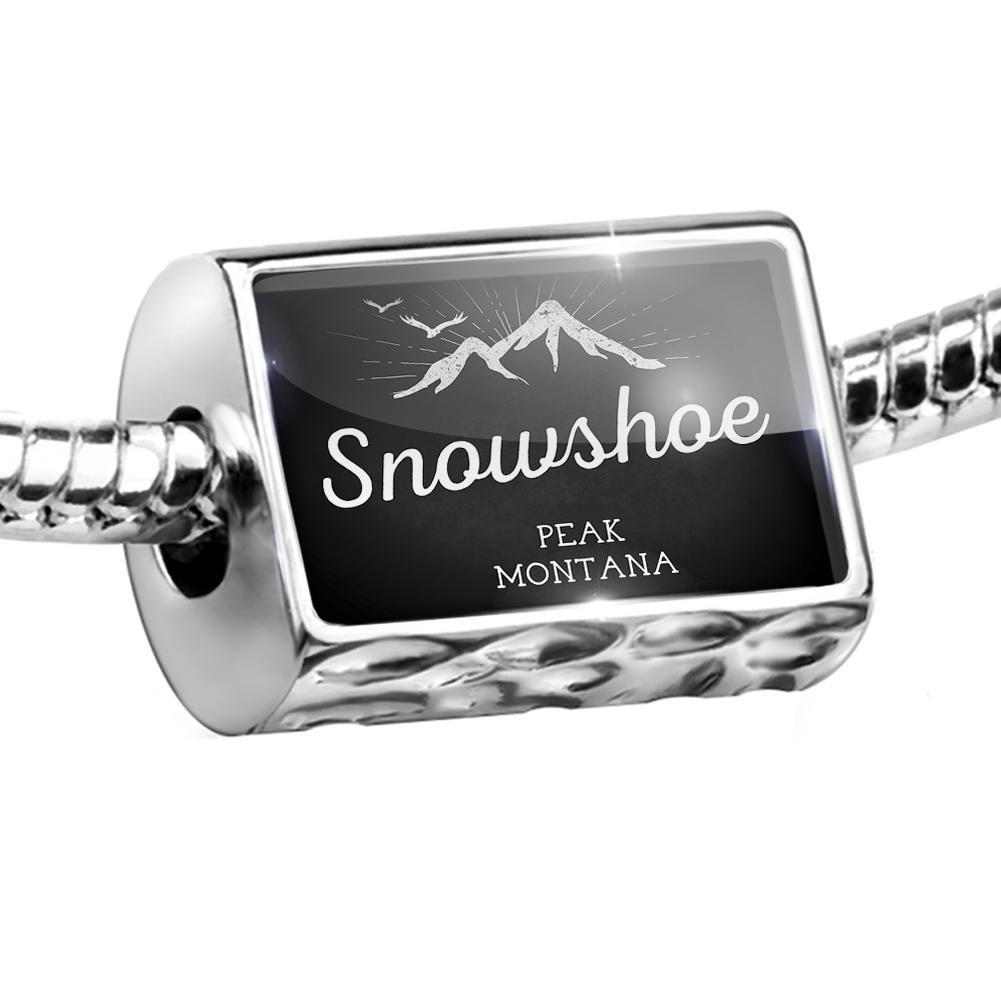 Bead Mountains chalkboard Snowshoe Peak Montana Charm Fits All European Bracelets by NEONBLOND