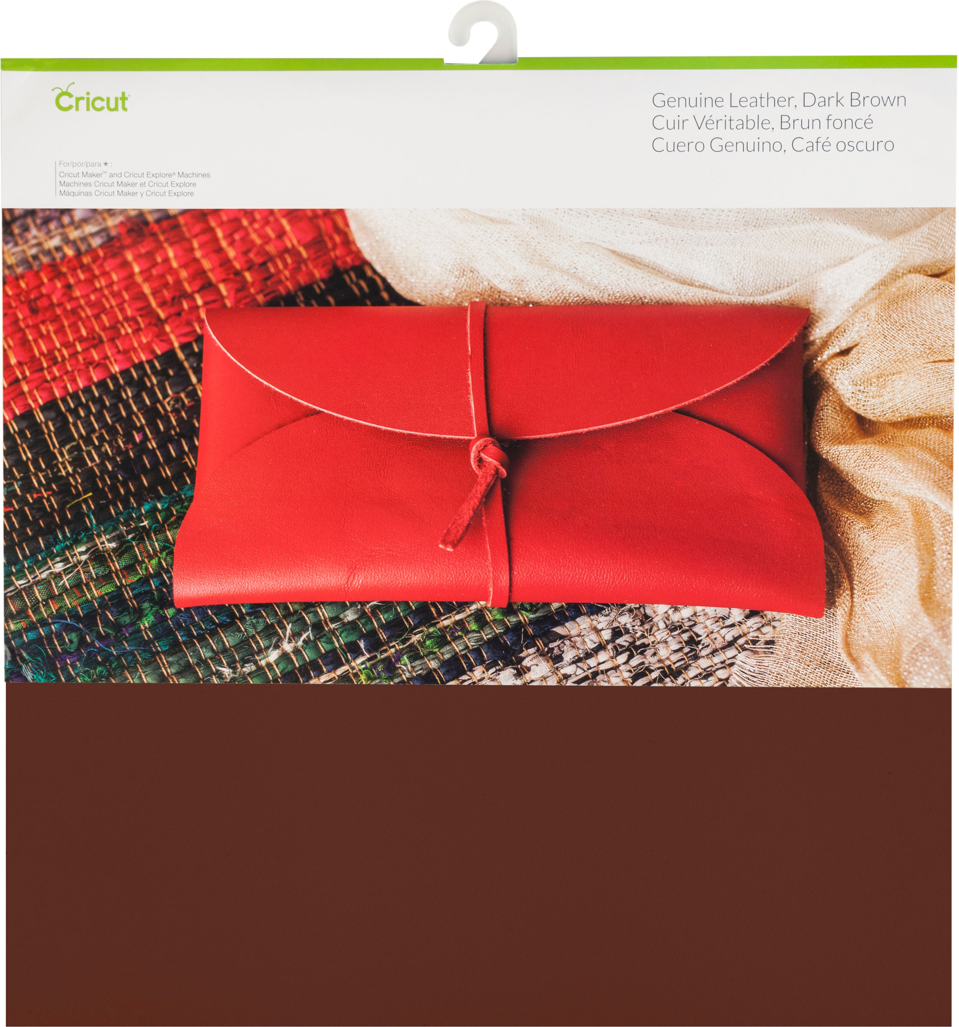 "Cricut Maker Genuine Leather 12""X12""-Dark Brown"