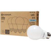 EcoSmart 100-Watt Equivalent A19 Non-Dimmable LED Light Bulb Daylight (4-Pack)