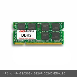 DMS Compatible/Replacement for HP Inc. 484267-002 Pavilion dv5-1036ca 1GB DMS Certified Memory 200 Pin  DDR2-800 PC2-6400 128x64 CL6 1.8V SODIMM -