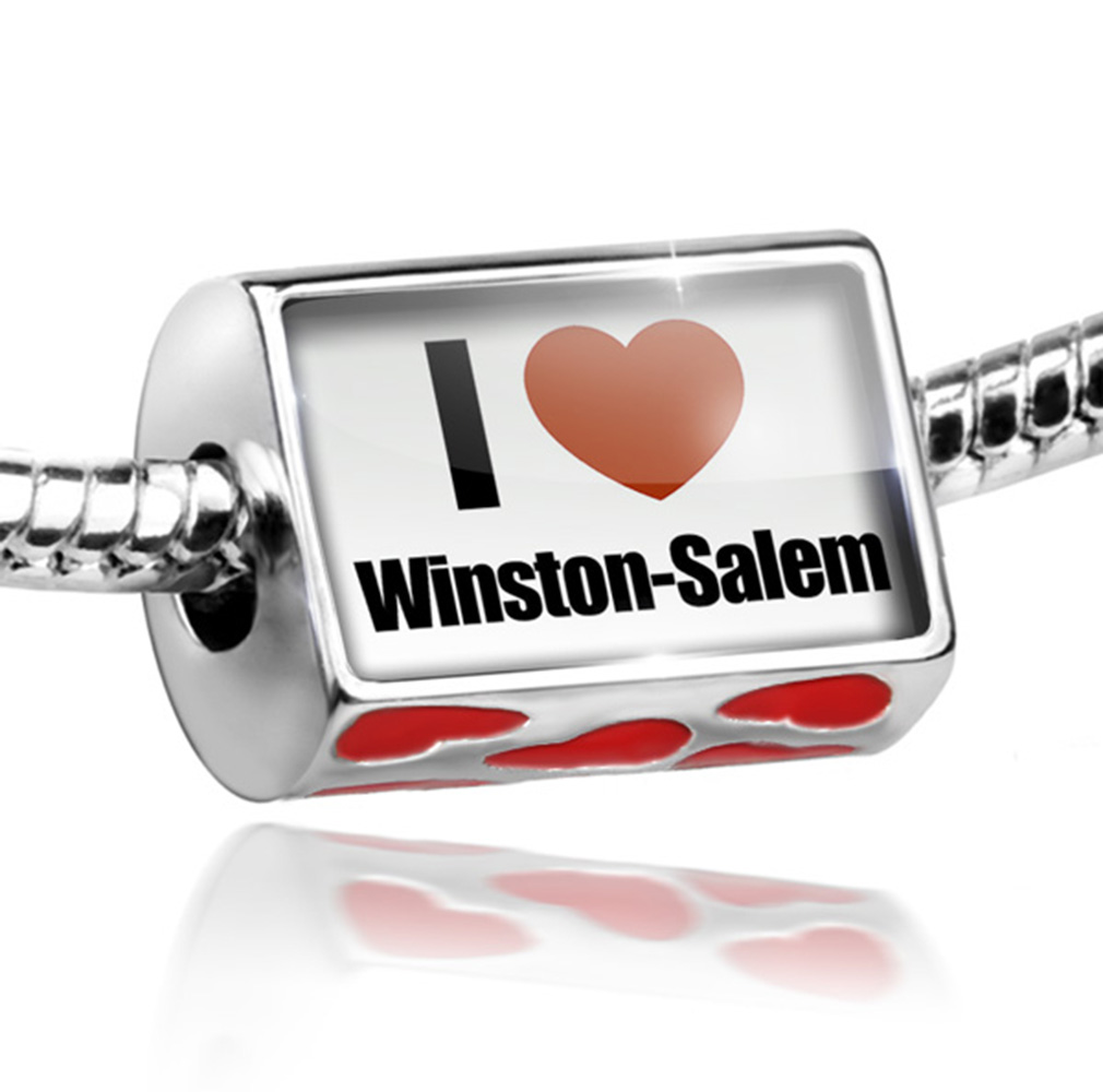Bead I Love Winston-Salem region: North Carolina, United Charm Fits All European Bracelets